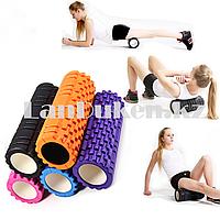 Ролик для фитнеса и йоги цвета в ассортименте (длина=30 см. диаметр=8,5 см)