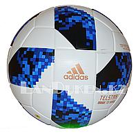 """Футбольный мяч """"Telstar 18 Adidas"""", бело-голубой"""