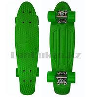 Пенни борд подростковый 56*15 Penny Board с гелевыми колесами зеленый