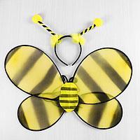 """Карнавальный набор """"Пчёлка"""" 2 предмета: ободок, крылья, фото 1"""