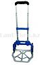 Складная тележка с алюминиевой грузовой площадкой, 2-х колесная многофункциональная (синяя), фото 2