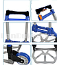 Складная тележка с алюминиевой грузовой площадкой, 2-х колесная многофункциональная (синяя), фото 7