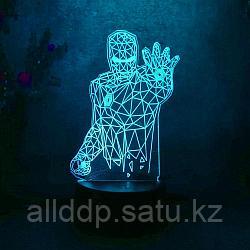 Светодиодный 3D ночник Железный человек LED  3 цветных режима (21х10 см)