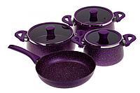 Набор посуды TAC, покрытие «Гранит», 7 предметов, пурпурный