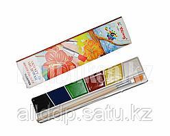 """Краски для рисования акварельные медовые """"Yalong"""" 820706/6 6 цветов с кисточкой"""