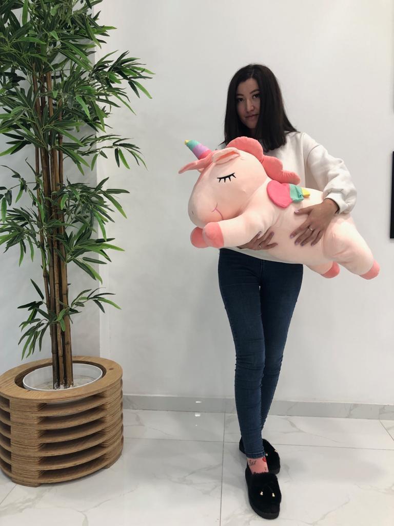 Мягкая игрушка пегас розовый 80см