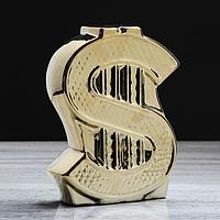 "Копилка ""Доллар"" золото, фото 1"