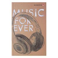 Блокнот А5, 160 листов Music forever, твёрдая обложка, глянцевая ламинация, фото 1