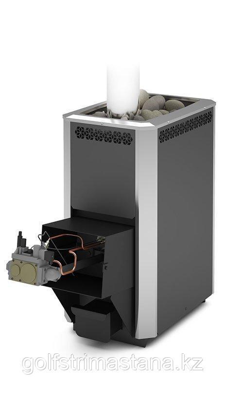 Печь газовая для бани и сауны Сибирь-20 ЛК с АГГ 20П
