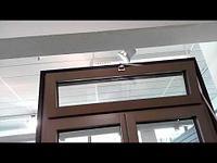 Алюминиевые окна с фрамугой