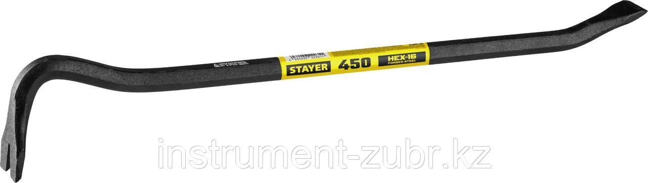 Лом-гвоздодер, 450мм, 16 мм, шестиграннный, STAYER