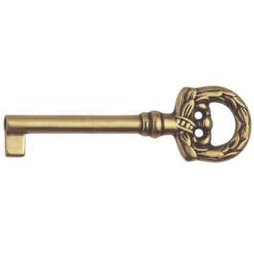 Ключ универс., 'Louis XV' 33х77мм, L=34мм, тип N, латунь пат.
