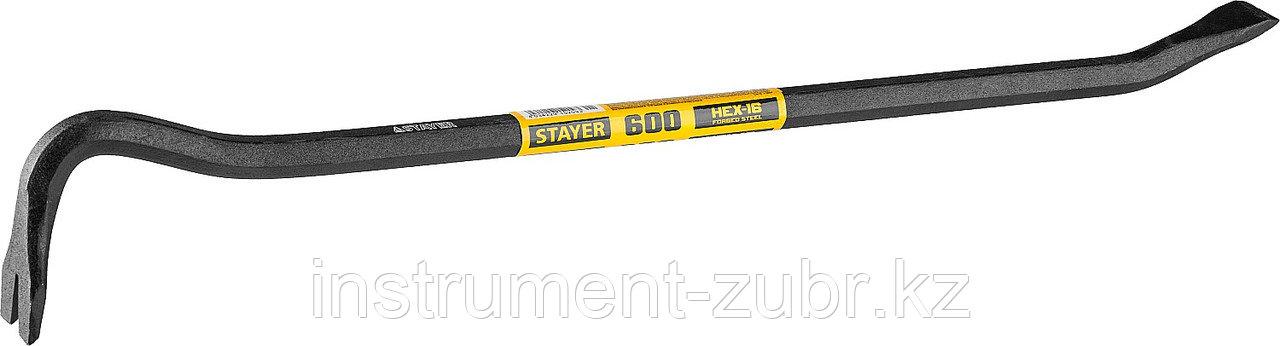 Лом-гвоздодер, 600мм, 16 мм, шестиграннный, STAYER
