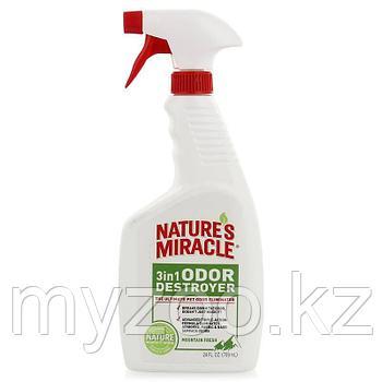 8 в 1 Уничтожитель запахов 3в1 с ароматом горной свежести спрей 709 мл  Nature's Miracle