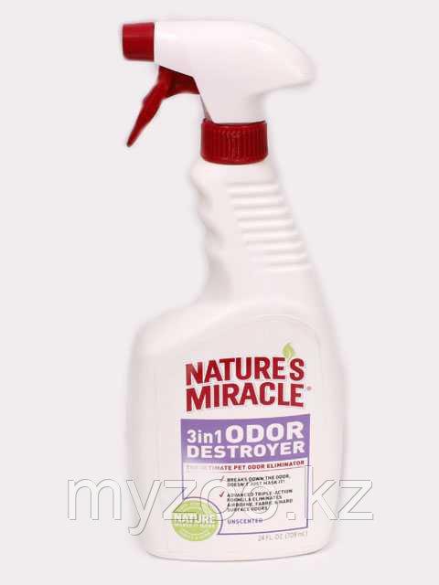 8 в 1 Уничтожитель запахов 3в1 без запаха спрей 709 мл  Nature's Miracle