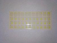 Наклейки на клавиатуру не стираемые, прозрачные, люминисцентные (краска ПОД ПЛЕНКОЙ) - ярко-желтые