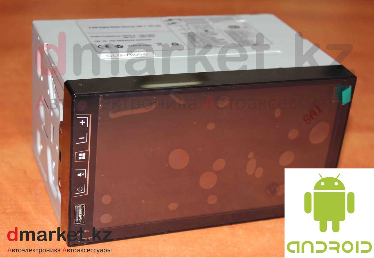 Автомагнитола Android GLG-7000A, 2DIN, 7 дюймов, Wi-Fi, GPS, ОЗУ 1Гб, память 16 Гб