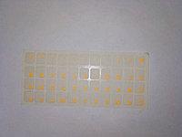 Наклейки на клавиатуру не стираемые, прозрачные, люминисцентные (краска ПОД ПЛЕНКОЙ) - ярко-оранжевые