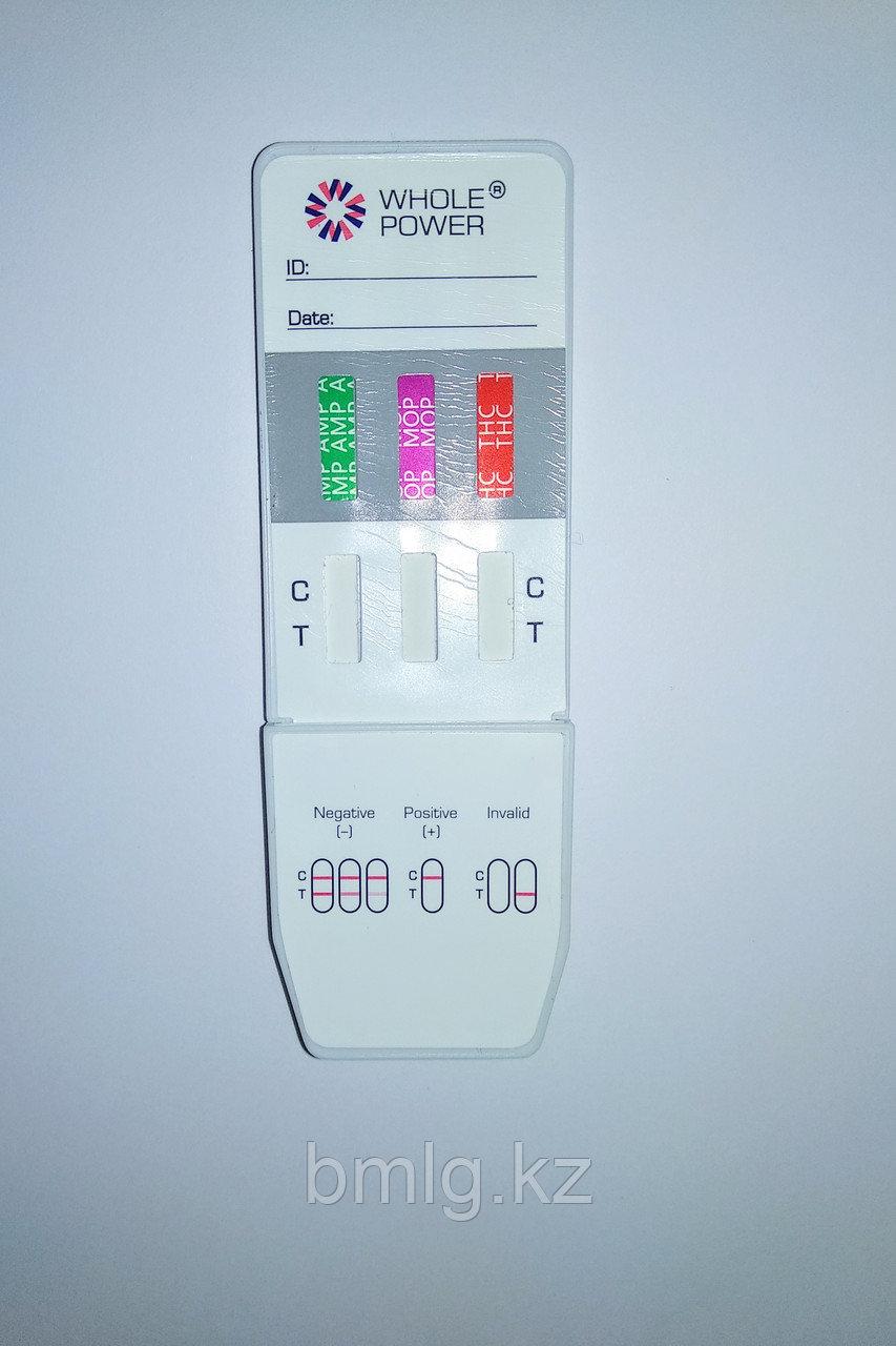 Тест-панель для определения наркотиков в моче на 3 вида ( AMP, MOP, THC )