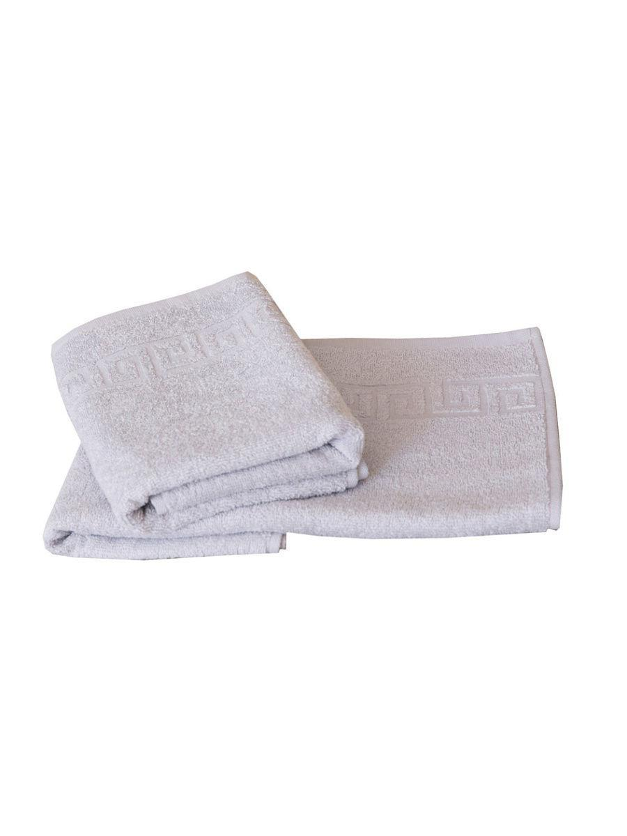 Полотенце для лица с каймой 40х80см 250гр белый