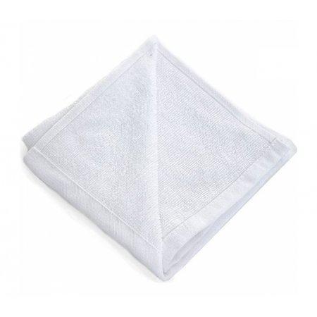 Салфетка махровая с каймой 35х35см 60гр белая