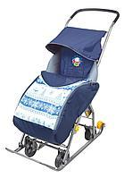 Санки-коляска Ника комбинированная Тимка 1 универсальная синий, фото 1