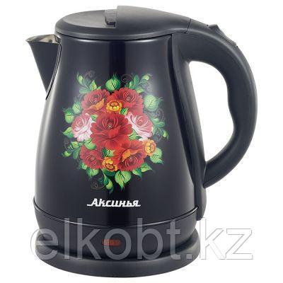 Чайник электрический 2000 Вт, 1,8 л АКСИНЬЯ КС-1051 Узоры черный
