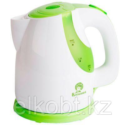 Чайник электрический 2200 Вт, 1,7 л ВАСИЛИСА Т22-2200 белый с зеленым