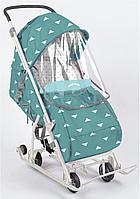 Санки-коляска Умка 3-1 с треугольниками бирюзовый, фото 1
