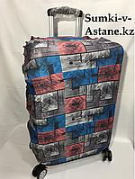 Чехол на средний пластиковый дорожный чемодан на 4-х колесах.Высота 63 см, длина 42 см, ширина 22 см., фото 1