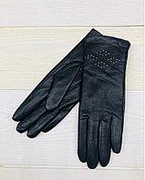 Женские кожаные зимние перчатки