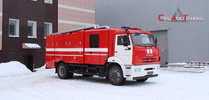Автоцистерна пожарная АЦ-5,0-40/100 (43253)  На базе Камаз 43253; Насос: С насосом заднего расположения