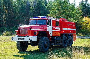 Автоцистерна пожарная АЦ-6,0-40 (5557)  на базе Урал 5557