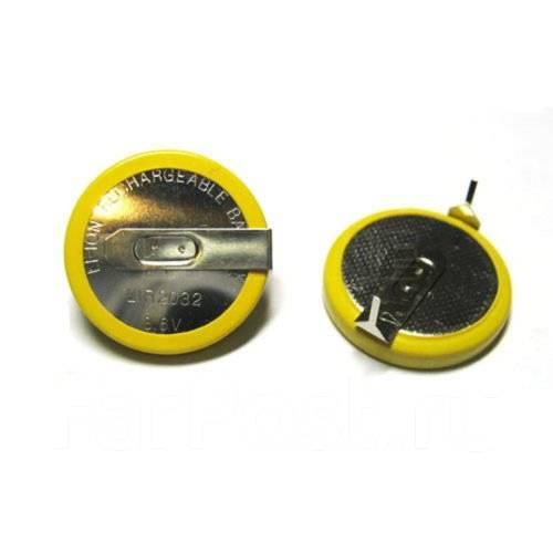 Аккумулятop 3,6v LIR2032 с выводами