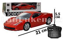 Машинка радиоуправляемая спортивная с аккумулятором красная G2037R