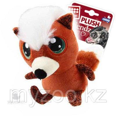 GigWi, ГигВи Лиса с большими глазами, игрушка для собак, 16см.