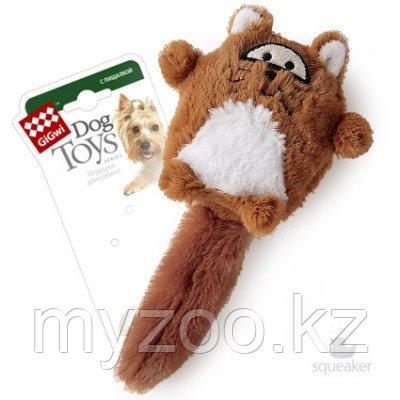GigWi, ГигВи Лиса с большой пищалкой ткань, игрушка для собак, 18см.