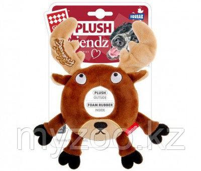 Игрушка GIGWI Лось с пищалкой, игрушка для собак, 19см