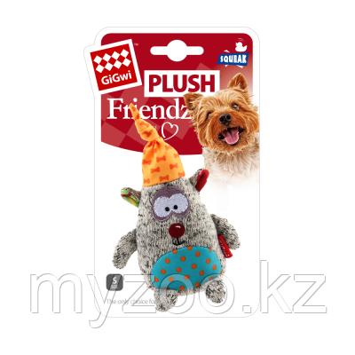 GigWi, ГигВи Медведь с пищалкой, игрушка для мелких собак,15.5*10.5*4см.