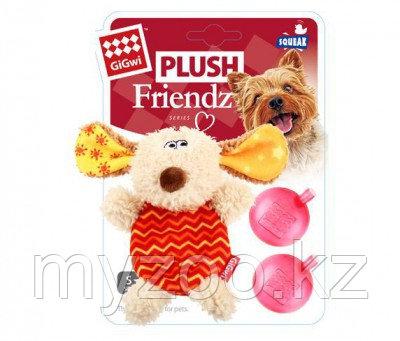 GigWi, ГигВи Собачка с пищалкой, игрушка для собак, 13см.
