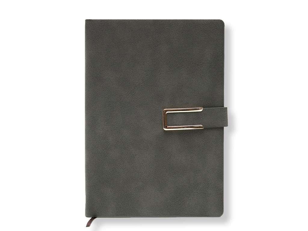 Книжка записная Yalong А5 на кнопке, клетка, хаки