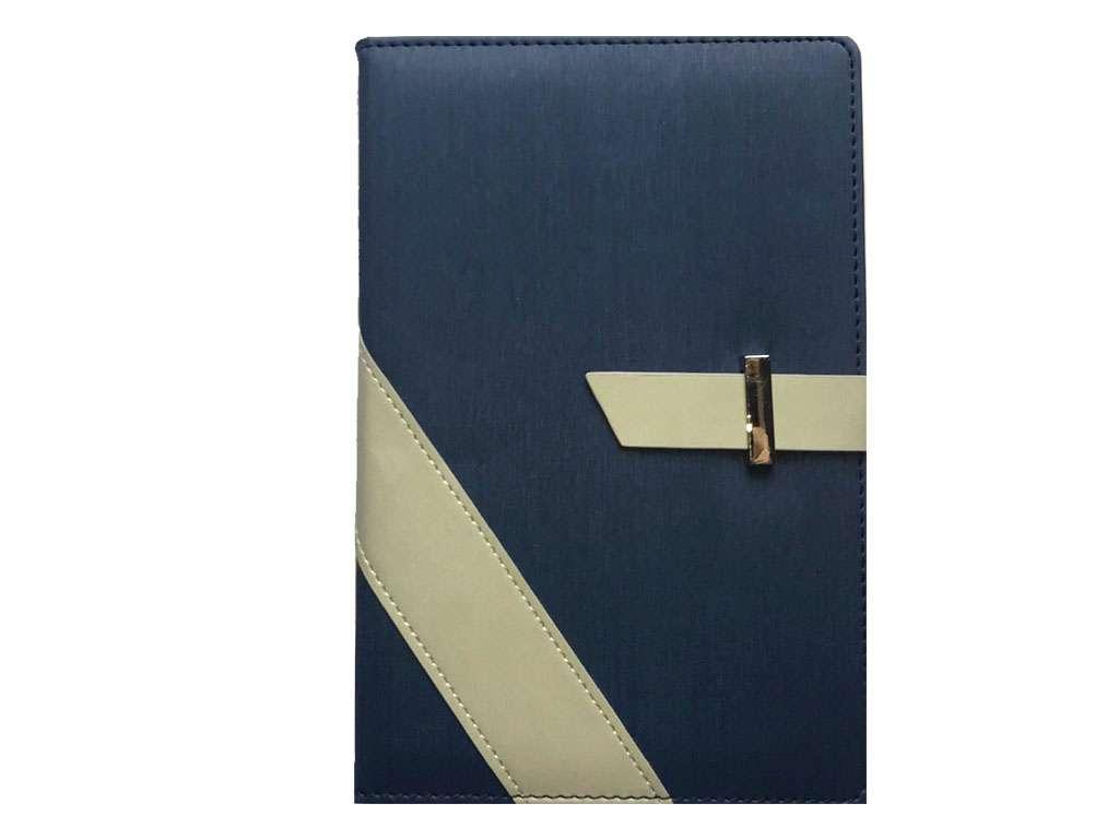 Книжка записная Yalong А5 на кнопке, клетка, серо/синяя