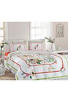 Комплект постельного белья Ozdilek Soft Life N.CICEGI VINCA 2-х сп. евро сатин