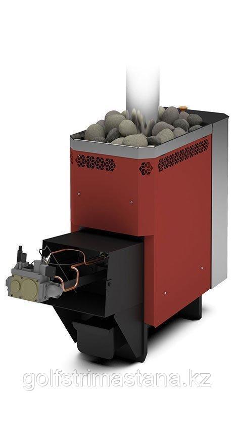 Печь газовая для бани и сауны Сахара-10 ЛБ с АГГ13П