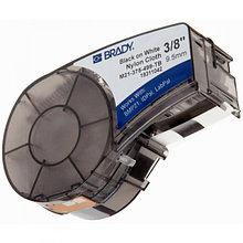 Brady M21-375-499 - лента нейлоновая, 9.53mm/4.87m (черный на белом) B-499