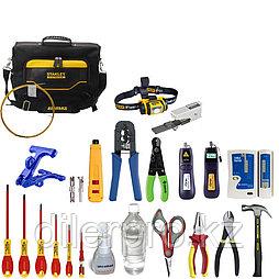 Набор инструментов для монтажа оптического кабеля и витой пары SK-RST-1S (в сумке)