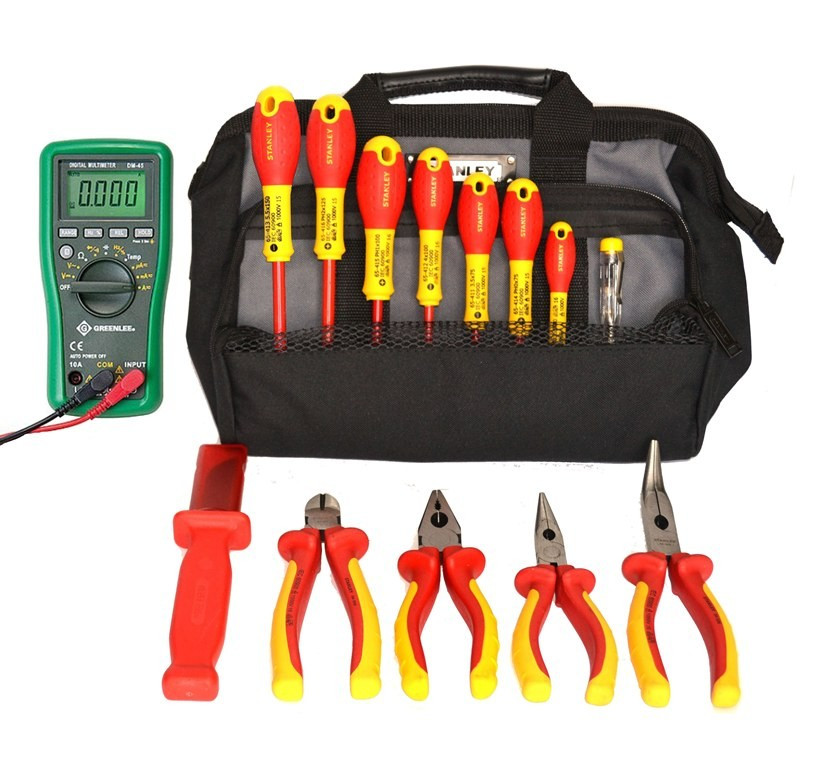 SK-16 B2 - набор изолированного инструмента электрика в сумке, 15 предметов