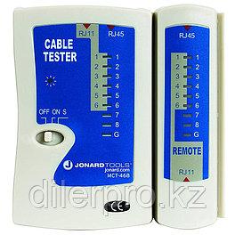 Jonard MCT-468 - кабельный тестер для модульных разъемов RJ11, RJ12, RJ45