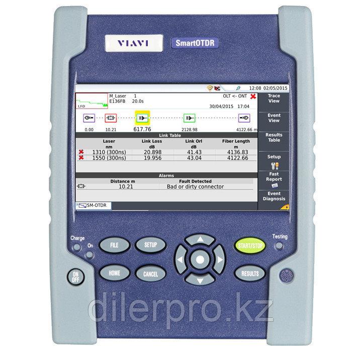 Комплект оптического рефлектометра VIAVI SmartOTDR E136FB 1310/1550нм с фильтром на 1625нм, 40/40/41дБ с LS,