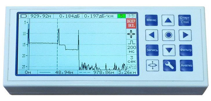 КБ Связь Квант - рефлектометр оптический 1310/1550 (30/28 дБ)
